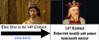 Some similarities in the injustices of life in the 14th Century Europe and life in 21st Century America. Picture